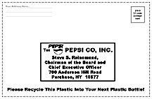 Link to Pepsi Mail it Back Label